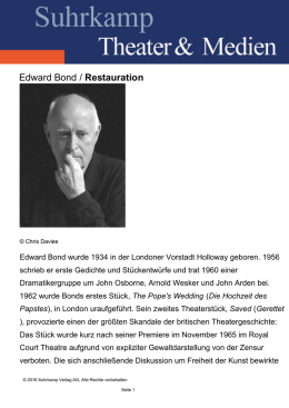 Edward Bond / Restauration