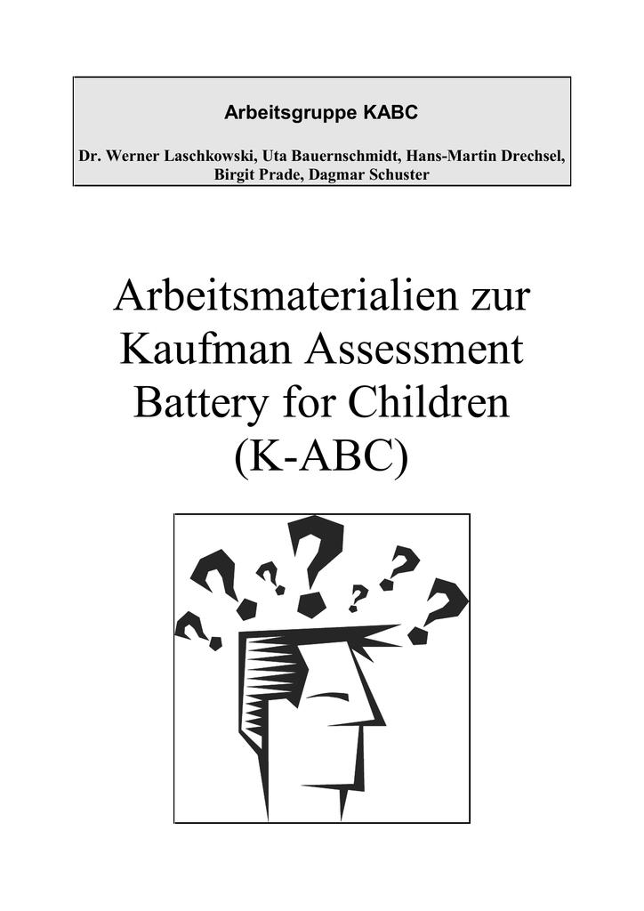Arbeitsmaterialien zur Kaufman Assessment Battery - SFZ