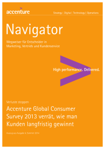 Accenture Global Consumer Survey 2013 verrät, wie man Kunden