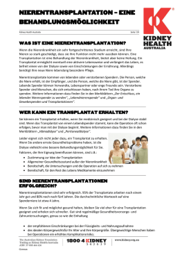 Fact Sheet - Kidney Health Australia