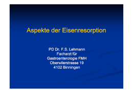 Aspekte der Eisenresorption