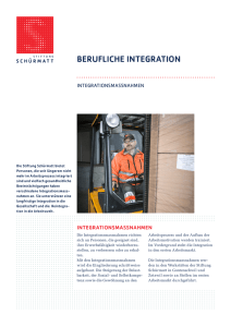 Flyer Integrationsmassnahmen