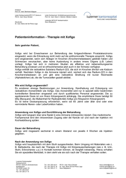Patienteninformation - Therapie mit Xofigo