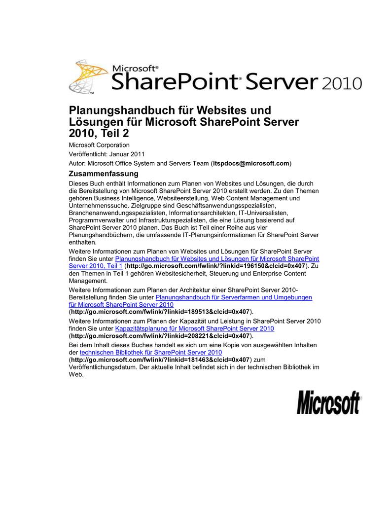 Planen der Inhaltsbereitstellung (SharePoint Server 2010)