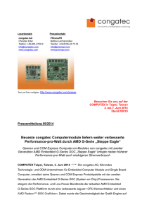 09-14 congatec COMs Steppe Eagle AMD G
