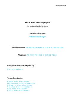 verbundprojekt kooperationsvertrag muster skizze verbundprojekt photonik forschung deutschland - Muster Kooperationsvertrag