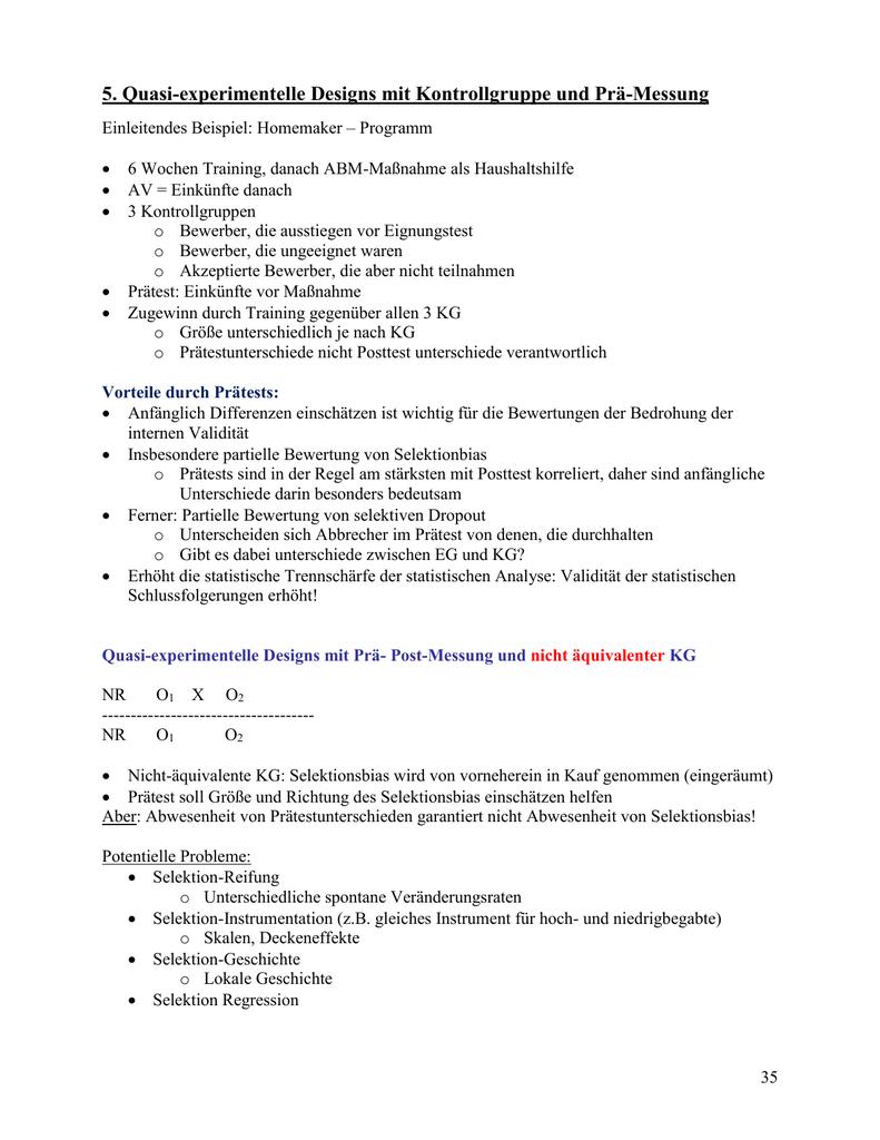 Quasi-experimentelle Designs - Fachschaft Psychologie Freiburg