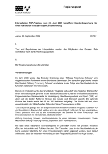 1 - Regierungsrat Interpellation FDP