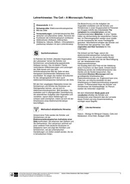 Arbeitsblätter zum Thema Zelle