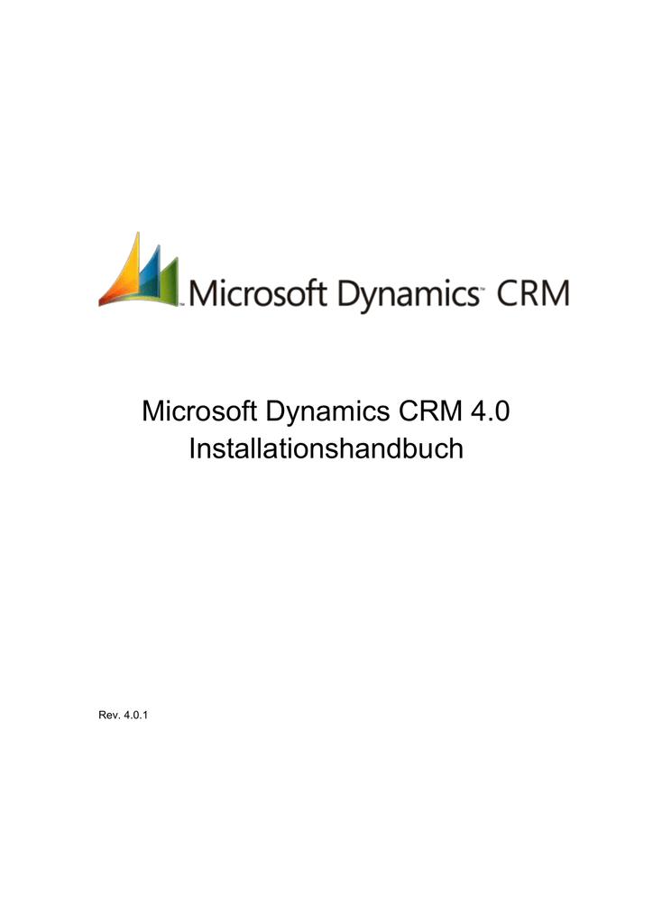 4 Anweisungen zur Installation von Microsoft Dynamics CRM für