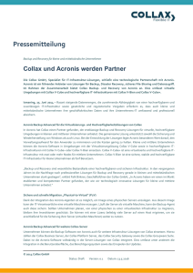 2014 PM Collax und Acronis