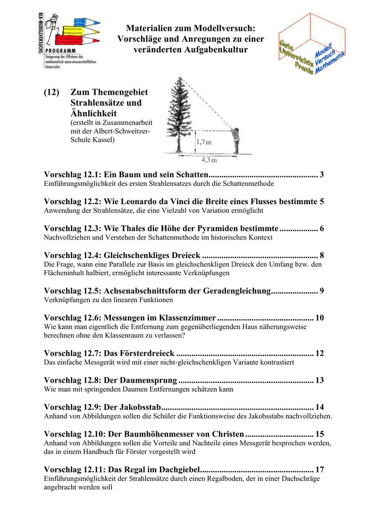 12 Strahlensatz