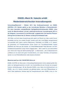 Word Doc: ENGEL Presemitteilung