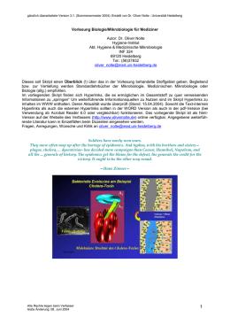Vorlesungsskript Biologie Mikrobiologie