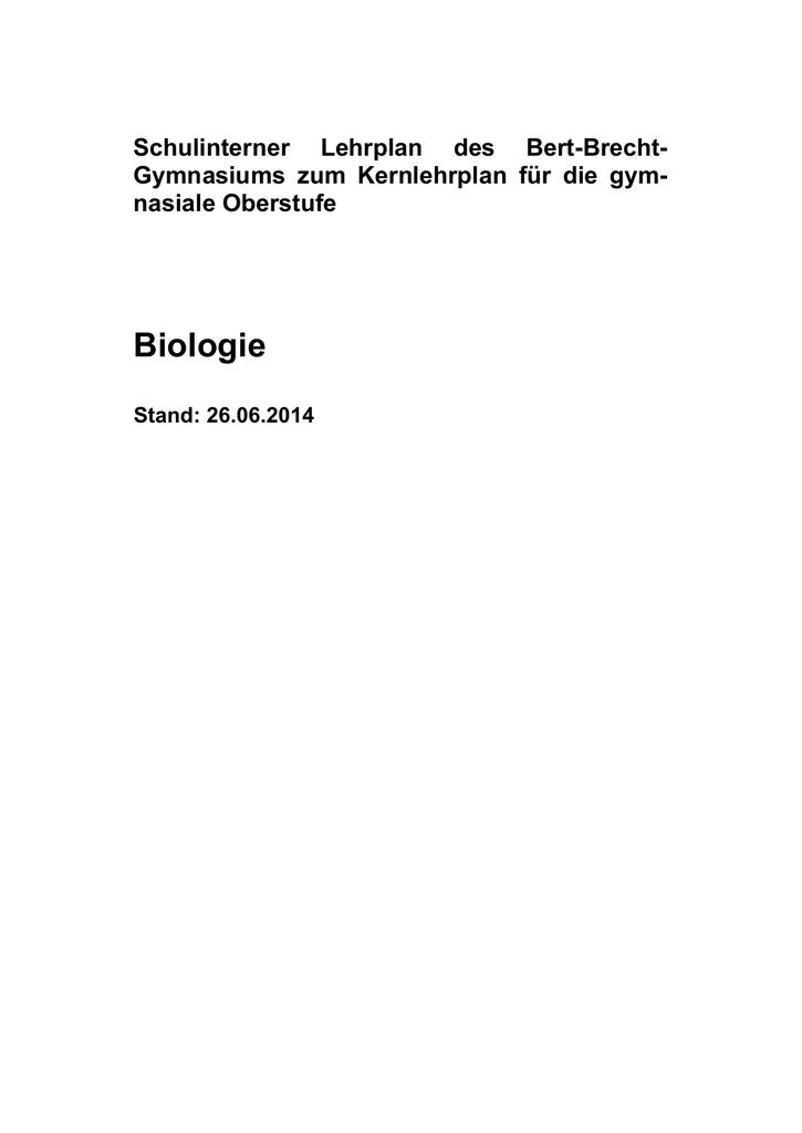 Biologie - Bert-Brecht