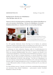 Medienmitteillung WORD - Grand Resort Bad Ragaz