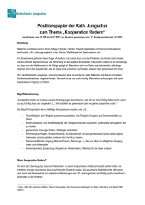 "Positionspapier der Kath. Jungschar zum Thema ""Kooperation"