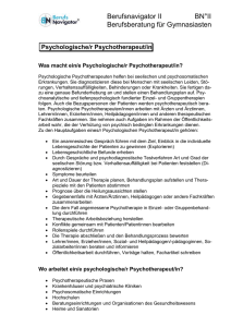 Psychologischer Psychotherapeut/in