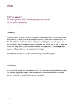 WF Report Template - Fit for Work Europe
