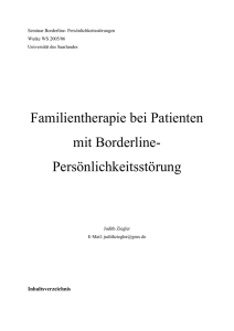 Familientherapie bei Patienten mit Borderline