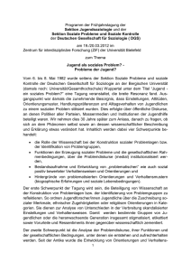Tagungsankündigung und Call for papers