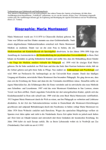 Download: Zusammenfassung Montessori
