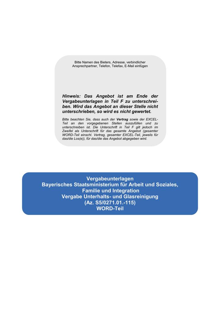 Teil A Bayerisches Staatsministerium Für Arbeit Und Soziales