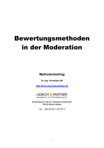 Bewertungsmethoden in der Moderation
