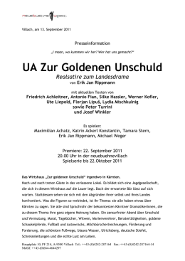 "Villach, am 13. September 2011 Presseinformation ""I maan, wo"