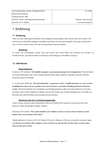 Konfliktmanagement - Handout