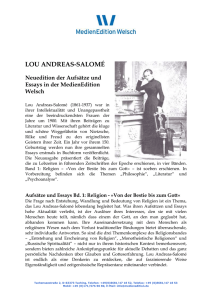 lou andreas-salomé - MedienEdition Welsch