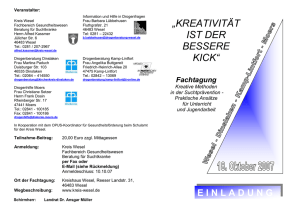 Fax: 02841 - 100186 - Drogenberatung Wesel