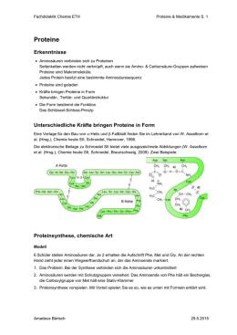 Chemie 04.10.00 Aminosäuren – Bausteine der Proteine