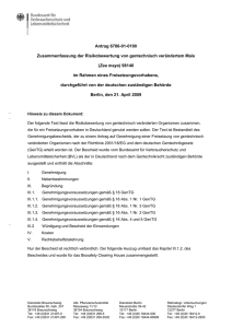 Titel Vorname Name - Biosafety Clearing