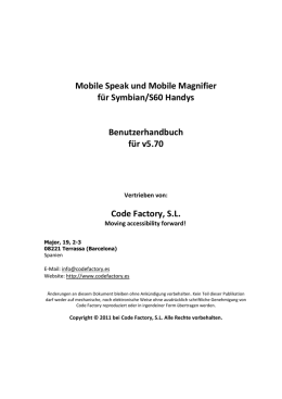 Mobile Speak und Mobile Magnifier