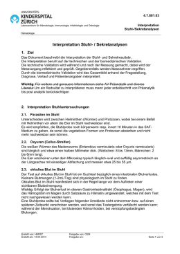 Interpretation Stuhl