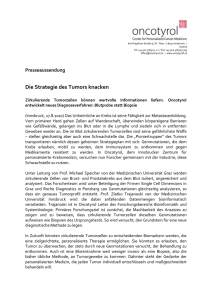Oncotyrol Die Strategie des Tumors knacken
