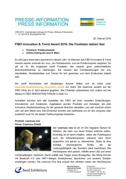 Nominierte FIBO Innovation & Trend Award