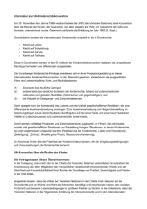 Information zur UN-Kinderrechtskonvention