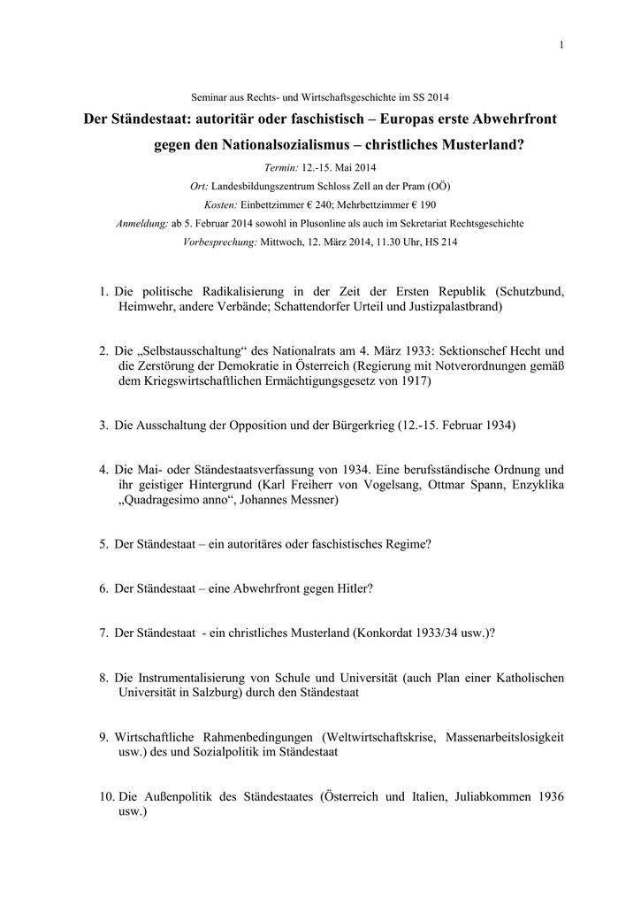 Seminar Aus Rechtsgeschichte Und Kirchenrecht Im Ss 1999