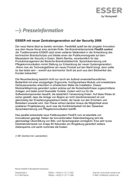 Pressemeldung - ESSER by Honeywell