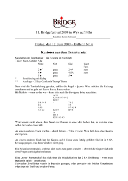 Bulletin 6 - Deutscher Bridge
