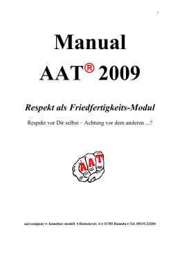 Manual 2009 - AAT Hameln