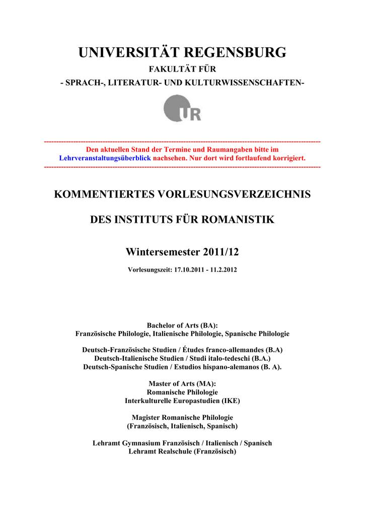 Fachschaft Romanistik - Universität Regensburg