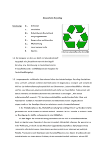 Hausarbeit: Recycling - Ihre Homepage bei Arcor