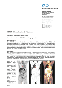 PET/CT - Kantonsspital Winterthur