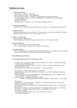 Biomechanik Arbeitsblatt - Peutinger