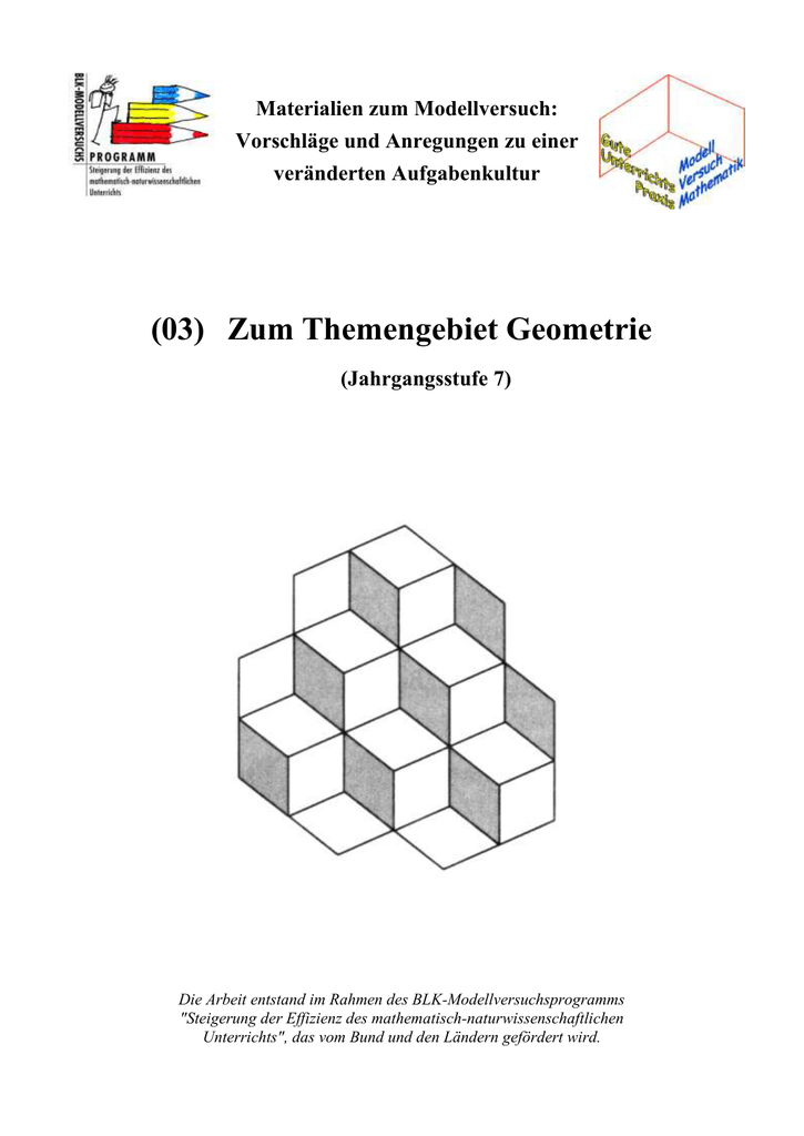 3 Geometrie I
