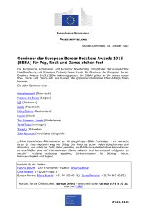 European Commission - EBBA, European Border Breakers Awards