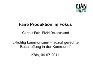 Faire Produktion im Fokus